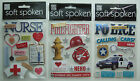 You Choose! ~VARIOUS OCCUPATIONS~ Soft Spoken Dimensional Embellishment Stickers