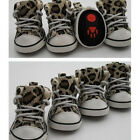 New Cute Pet Dog Camouflage Boots Leopard Canvas Sports Shoes Foot Protect #1-5