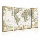 MAP 16 3B Canvas Framed Printed Wall Art ~ 3 Panels ~ More Size
