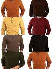 St. Johns Bay Mens 4XL Long Sleeve Henley Sueded Brick Easton Brown Choice NWT