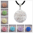 8 Colors 20mm Crystal Bell Pendant Wax Leather Pregnancy Necklace Harmony Ball