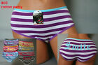LOT 1 6 OR 12 PCS Smile Happy Lady Striped Cotton Spandex Bikini Panty S/M/L/XL