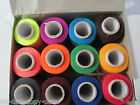 12x Colour, Black or White Spools Finest Quality Sewing All Purpose 100% Cotton