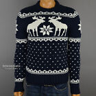 "New Abercrombie & Fitch Mens A&F ""Wallface Mountain"" Muscle Fit Winter Sweater"
