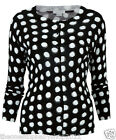 Mamas Papas MATERNITY BLACK WHITE SPOTTED CARDIGAN 8 10 12 14 16 18 NEW £40