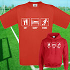 EAT, SLEEP, STOKE FOOTBALL T SHIRT / HOODIE - KIDS ADULTS  TOP
