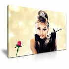 Audrey Hepburn Breakfast at Tiffany's  Icon Modern Wall Art Canvas Print Framed