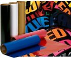 "Iron On Vinyl Transfer 12""x15"" Sheet - 25 + Colors For Any Color Materials"