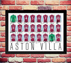 ASTON VILLA 14/15 SQUAD TEAM SIGNED AUTOGRAPH PHOTO POSTER BENTEKE AGBONLAHOR