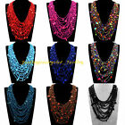 New Fashion Jewelry Multilayers Long Chain Colorful Resin Statement Bib Necklace