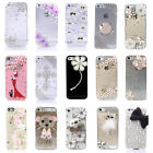 3D Bling Luxury Crystal Diamond Rhinestone Clear Case Cover Skin for iPhone 5/5s