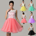 CHEAP Applique Lace Tulle Engagement Evening Prom Party Homecoming Gowns Dresses