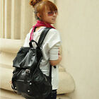 High Quality Women/Men Student Bag Korean Style PU Leather Backpack