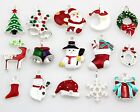 15x90x Lots Xmas Christmas Mix Silver Plated Enamel Pendants Charms Findings Y57