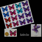 Transparent Film Butterfly #2 PEACOCK size 3 UNCUT 10, 16 or 32 suncatchers 3D