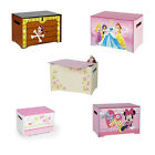 Children's Boys & Girls MDF Wooden Character Toy Box - Cars, Princess, Thomas