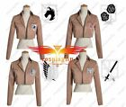 Attack on Titan Recon Training Stationed Military Cosplay Jacket Custom Made