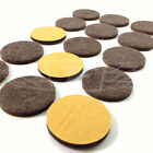 26mm, SELF ADHESIVE FELT GLIDE ROUND PADS BROWN PROTECT LAMINATE FLOORS SCRACHES