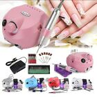 Professional Electric Nail File Acrylic Drill Sand Bits Machine Kit Manicure Set