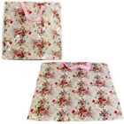 LAUNDRY BAG ZIP CARRIER SHOPPER CLOTHES SHOPPING FLORAL LOOT WASHING WATERPROOF