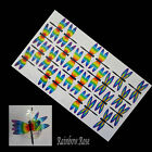 Transparent Film Dragonfly #51 CHAKRA Size 3 UNCUT 3, 6, 12 or 24 suncatchers 3D