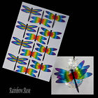 Transparent Film Dragonfly #51 CHAKRA Size 4 UNCUT 3, 6, 12 or 24 suncatchers 3D