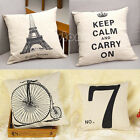 "New Linen Home Decor 17"" Square Throw Pillow Cases Pillowcase Back Cushion Cover"