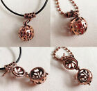 Copper Pot Wish Box Locket Pendant Necklace Copper or Leather Ladies Girls Gift