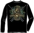 Erazor Bits MM108LS Long Sleeve Marine devil dog First in last out Black Shirt