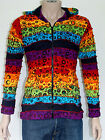Fairtrade Hippie Funky Boho Gypsy Rainbow Patchworks Cotton Hoody Jacket Nepal