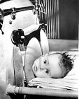 1954 BABY IN IRON LUNG POLIO BOBBY HILL PHOTO Largest Sizes