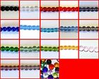 200x4mm / 100x6mm / 50x8mm Crystal Glass Round Beads