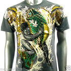 Artful Couture T-Shirt Sz M L XL XXL Koi Fish Carp Japanese Tattoo Bike mma AG30