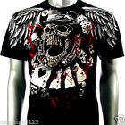 Artful Couture T-Shirt M L XL XXL Skull Card Spade Casino Tattoo Rock Punk AB25