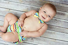 Diaper Cover and Bow Tie Set Chevron Baby Boy Photo Prop Cake Smash Outfit