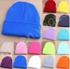 Hot Winter Unisex Fashion Candy Color Hip-hop Ski Cap Knit Hat Crochet Beanies