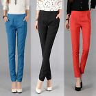 Womens Stretch Candy Pencil Pants Casual Slim Fit Skinny Jeans Trousers S-XXL