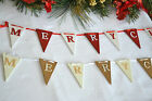 Shabby chic wooden Merry Christmas Nordic garland tree decoration mini bunting