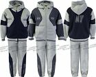Boys Jogging Suits Tracksuits Hoodie Jacket & Joggers Sportswear Ages 7-13 Years