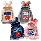 New cute Mickey Minnie Mouse Boys Girls Hooded fleece Longsleeved jumper 1-4yrs