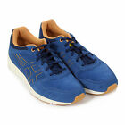 Onitsuka Tiger Men's Shaw Runner Suede / Nylon Lace-Up Trainer Estate Blue