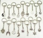 TIBETAN SILVER WICCAN PAGAN CHARM KEYRING CHOOSE YOUR STYLE BUY TWO GET ONE FREE
