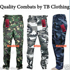 """Mens Cargo Combat Army Military Camouflage Camo Work Trousers 29"""" Leg & 32"""" Leg"""