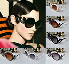 COOL Women's Butterfly Clouds Arms Retro Sunglasses Semi Transparent Round UK EW