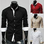MEN DRESS SHIRTS FORMAL CASUAL SHIRT BUSINESS WEAR OFFICE PARTY TOPS SOLID COLOR