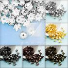 Approx 100-160Pcs Flowers Cone Filigree Normal Beads Caps 7x7mm Jewelry Findings