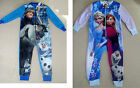 Boys Girls Disney Frozen Pyjamas Fleece Sleepsuit Kids Primark Bnwt
