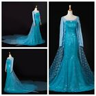 Xmas Disney Frozen Elsa Queen Party Costume Cosplay Elsa Dress For Adult Women
