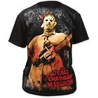 Texas Chainsaw Massacre Leatherface Horror Film All Over Front Print T-Shirt Top