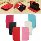 Flip PU Leather Card Wallet Cover Case Stand For Samsung Galaxy Trend Plus S7580